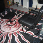 Carpet and chair